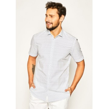 Shirt TF Shark white-blue with print