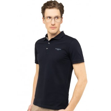 Collar polo navy blue