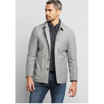 Пиджак серый меланж манишка