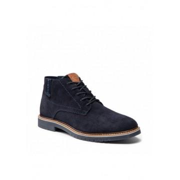 Ботинки замш тёмно-синий