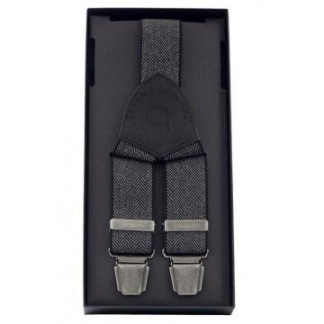 Мужские подтяжки для брюк черные