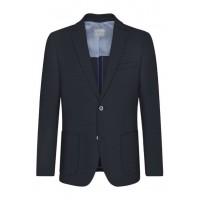 Пиджак темно-синий трикотажный
