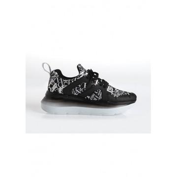 Кроссовки чёрные принт