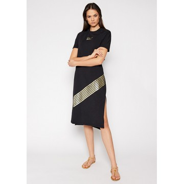 Платье черное принт