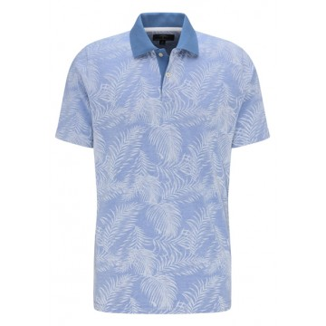 Polo shirt blue print