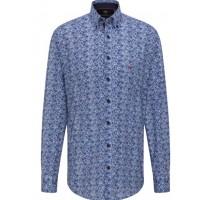 Сорочка синий принт Button-Down