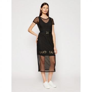 Платье черное с ремнем