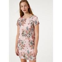 Платье розовый принт короткое