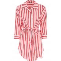 Сорочка удлиненная красно-белая полоса