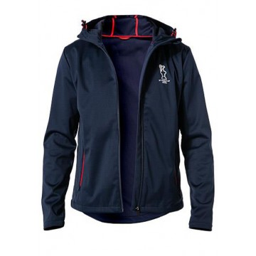 Sports jacket with a hood navy blue