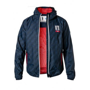 Windbreaker 70 cm with hood and print navy blue