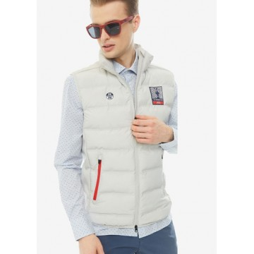 Inflated vest 65 cm light gray