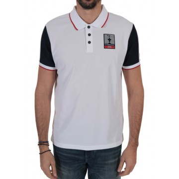 Polo shirt with short sleeves gray