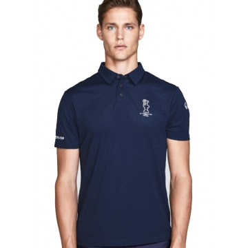 Polo with buttons navy blue
