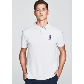Polo with buttons gray