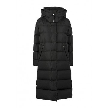 Down jacket black with a hood