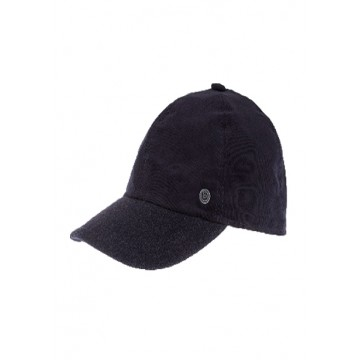 Baseball cap autumn micro-corduroy black