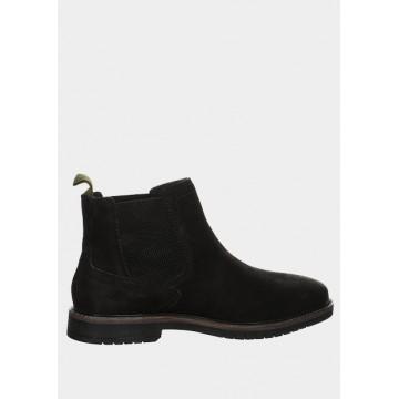 Ботинки черные кожа