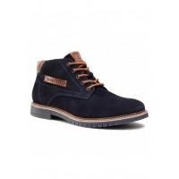 Ботинки тёмно-синий замш