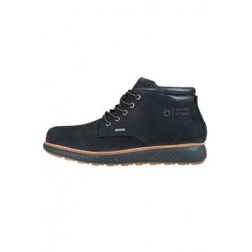Ботинки чёрные кожа