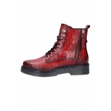 Bordeaux reptile boots