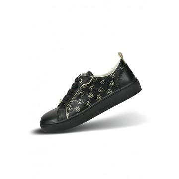 Sneakers black leatherette