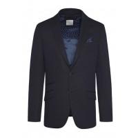 Пиджак фиолетово-синий микродизайн