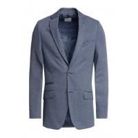 Пиджак SF синий микродизайн