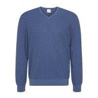 Пуловер синий меланж