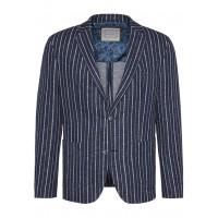 Пиджак трикотаж Flexcity т.синий полоса