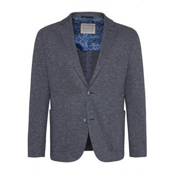 Пиджак трикотаж Flexcity серо-синий м/д