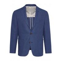 Пиджак синий микродизайн