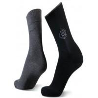 Набор носков 2 пары черный+т.серый