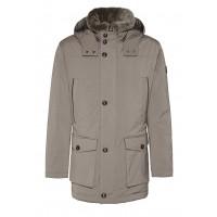 Куртка бежевая зима
