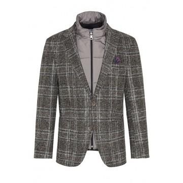 Пиджак серо-коричневая клетка
