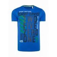 Синяя футболка c принтом