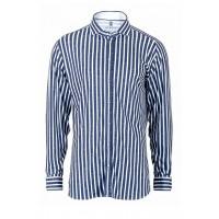 Рубашка мужская сине-белая полоса