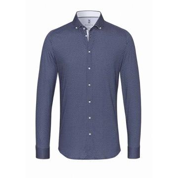 Hai men's blue dotted shirt