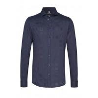 Рубашка тёмно-синяя микродизайн