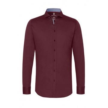 Рубашка мужская бордо микродизайн