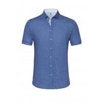 Сорочка тёмно-синяя микродизайн