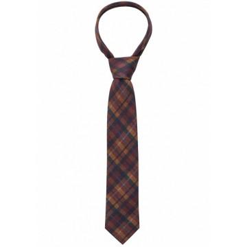 Галстук  коричнево-синий вязанный