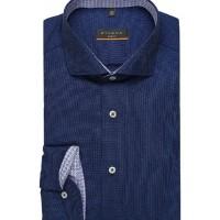 Сорочка темно-синяя фактура