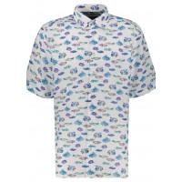 Сорочка бело-синяя