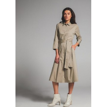 Платье серо-бежевое
