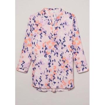Блуза розовый принт