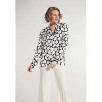 Блуза черно-белая принт