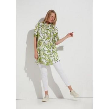 Сорочка Eterna бело-зеленая