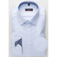 Рубашка мужская голубая фактурная
