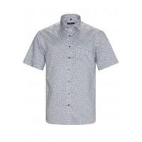 Рубашка мужская белая с принтом